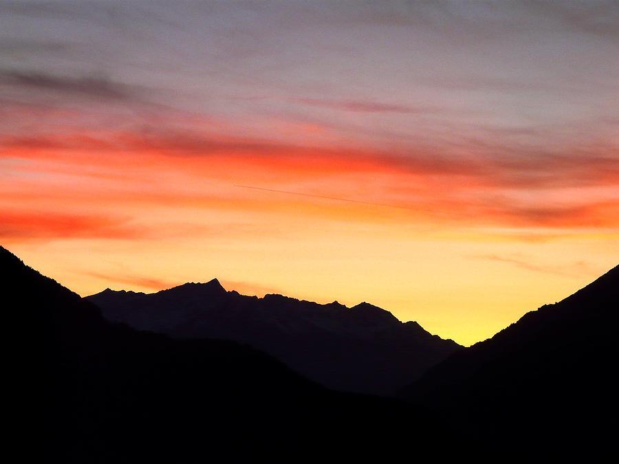 Mountain Photograph - Mountain Sunset by Valerie Ornstein