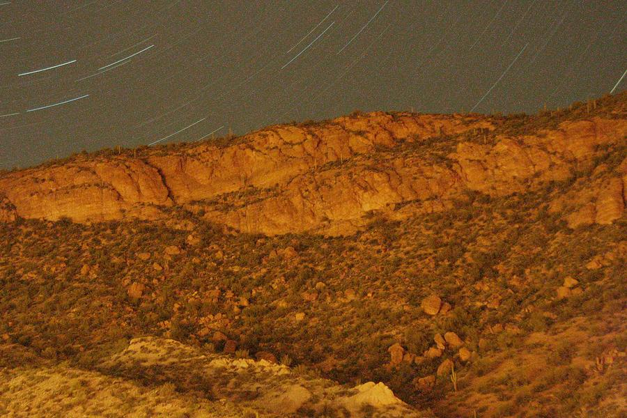 Night Photograph - Mountain Trails by David S Reynolds