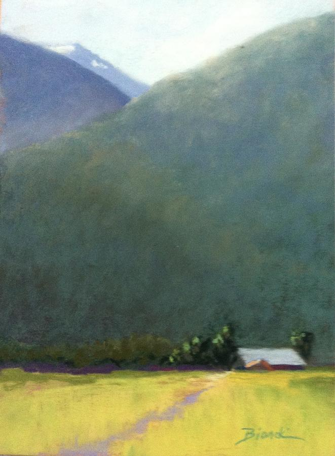 Farm Painting - Mountain Valley Farm by Janet Biondi