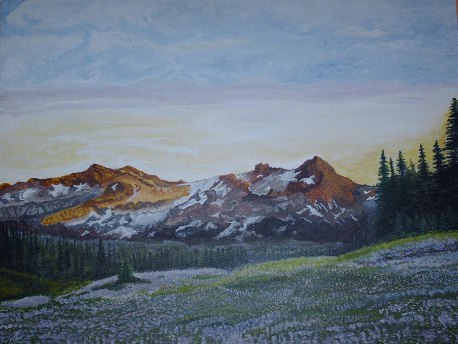 Mountain Valley Painting by Harvey Copeland