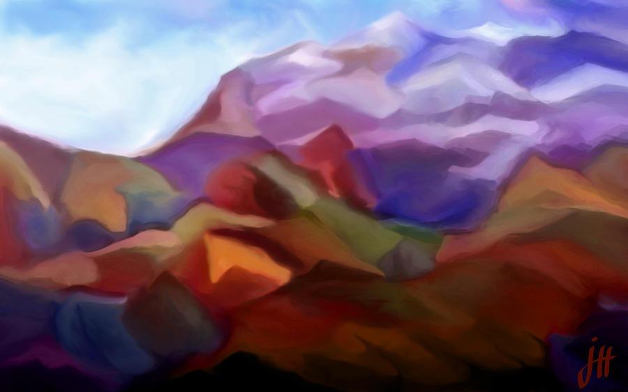 Lanscape Painting - Mountain Valley by Jonathon Hetts