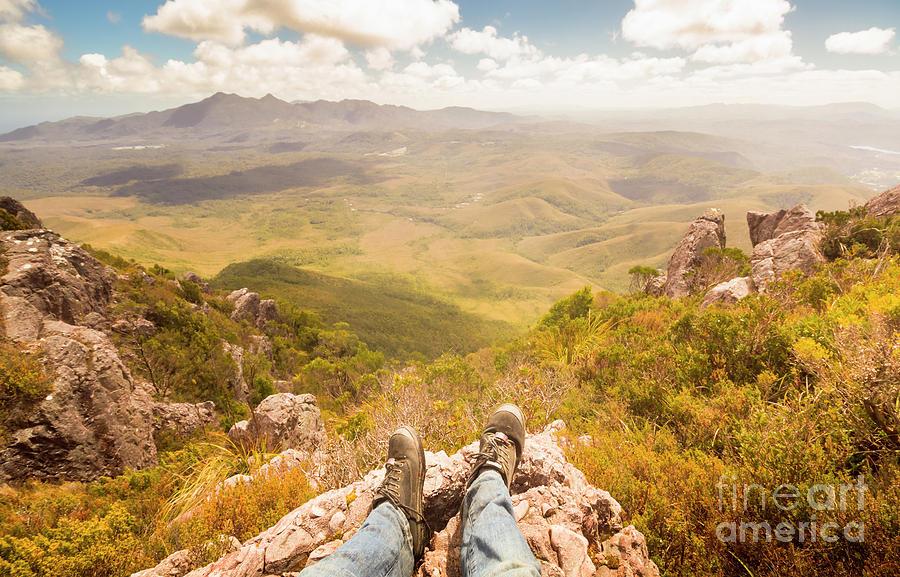 Australia Photograph - Mountain Valley Landscape by Jorgo Photography - Wall Art Gallery