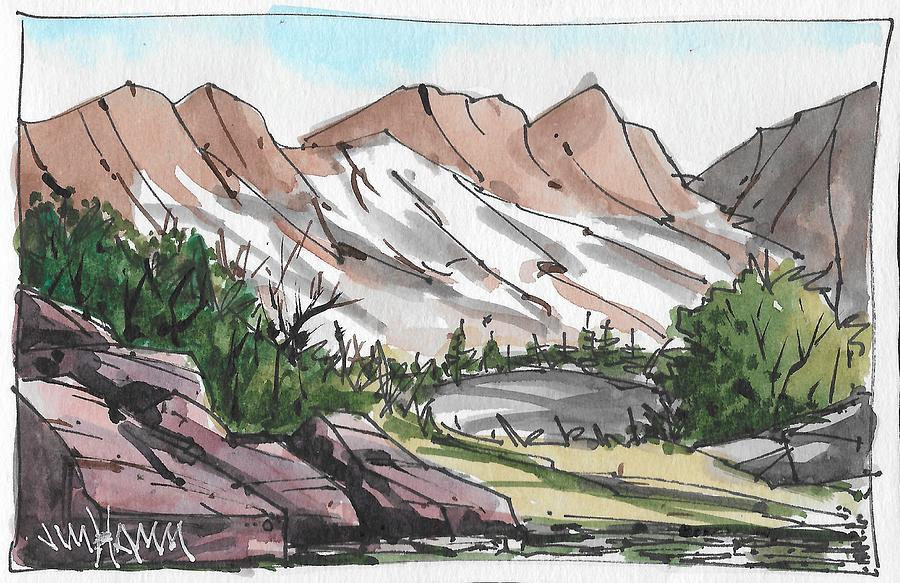 Mountain View Drawing By Jim Hamm