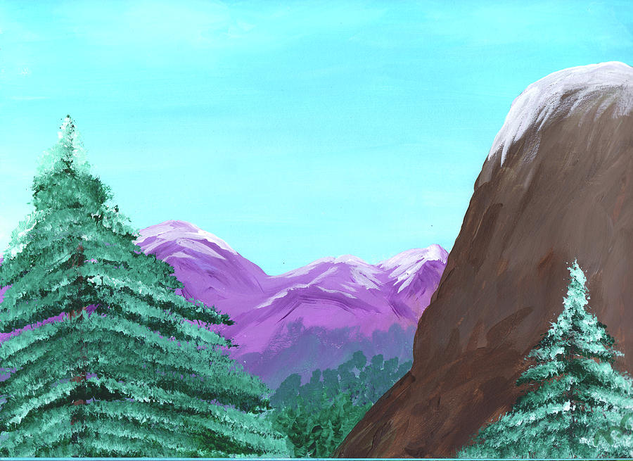 Mountain Painting - Mountain View by M Valeriano