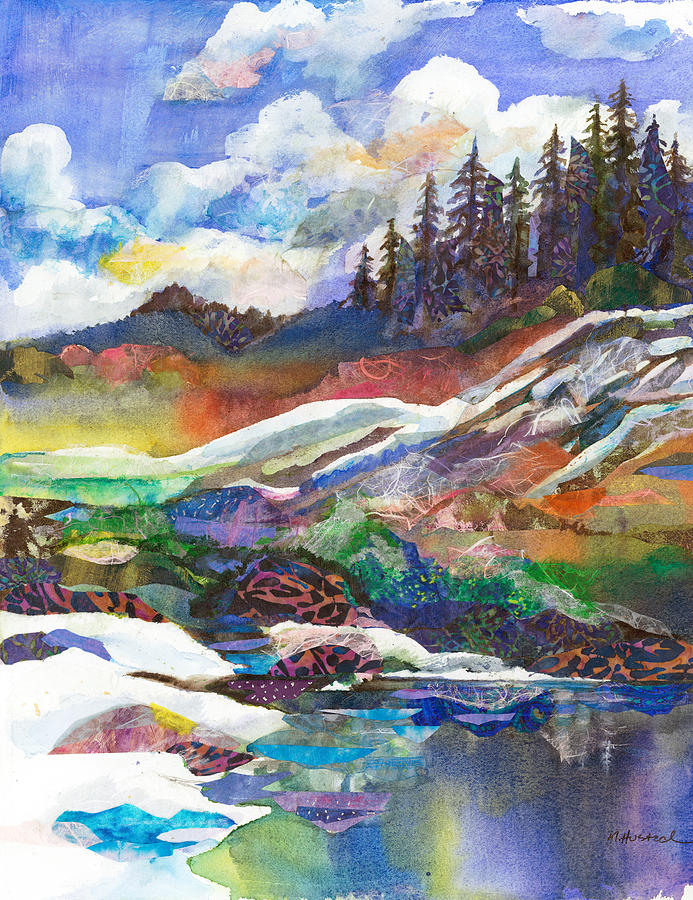 Mountains Painting - Mountain View by Marty Husted