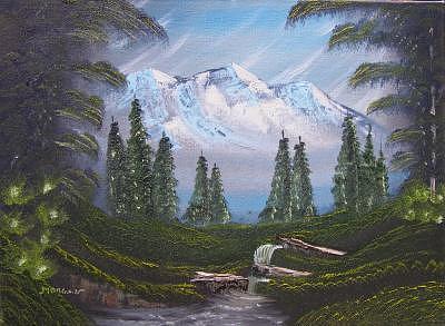 Mountain View Painting by Sheldon Morgan