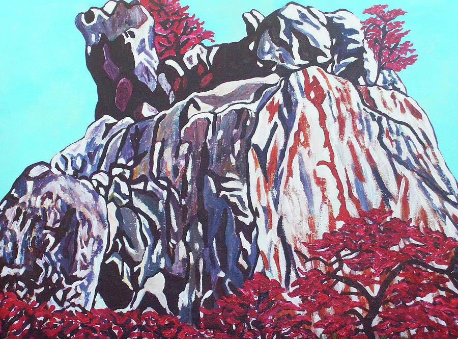 Mountain View Painting - Mountain View by Valentine Magutsa