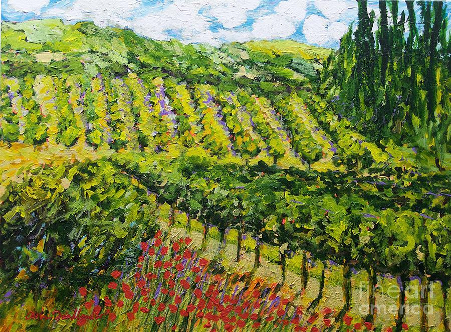Mountain Vineyard Painting