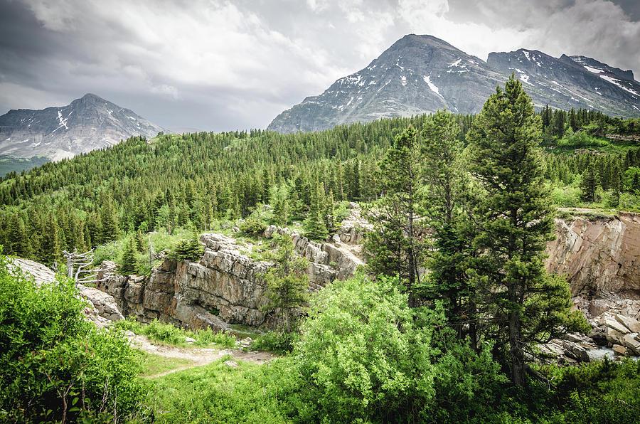 Glacier Photograph - Mountain Vistas by Margaret Pitcher