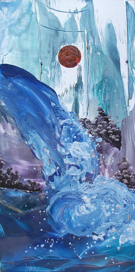 Mountains Painting - Mountain Water by Danita Cole