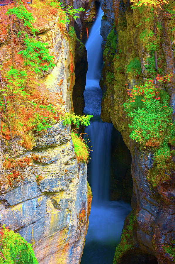 Waterfall Photograph - Mountain Waterfall by Paul Kloschinsky