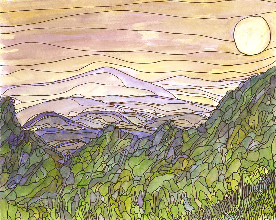 Beauty Painting - Mountains 12 by Katie Ree