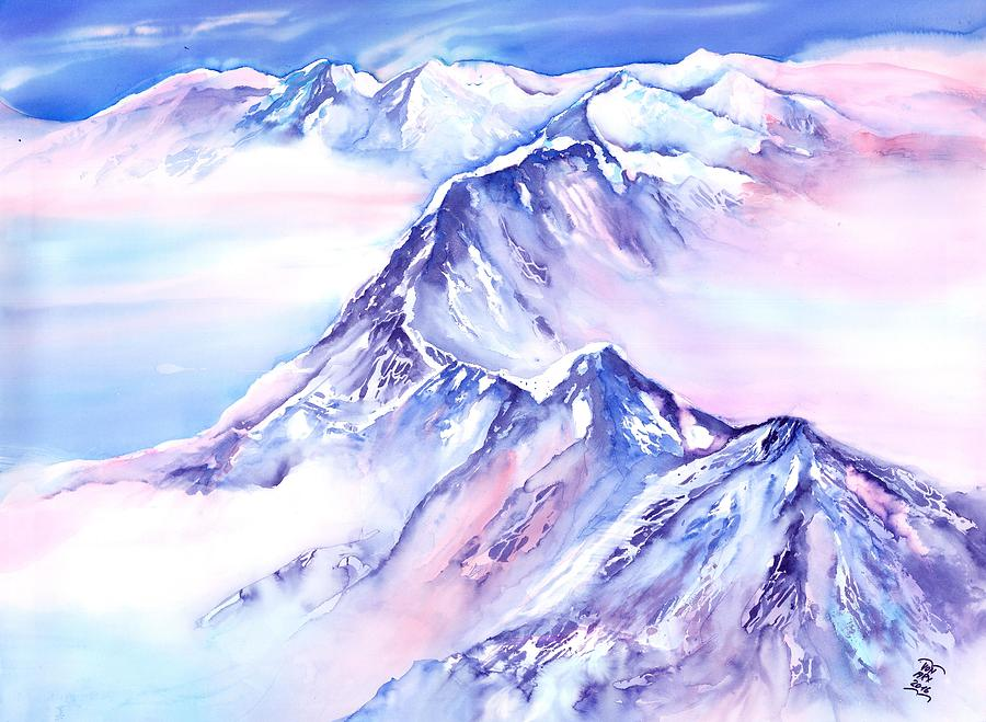 Mountains - Above the clouds No. 1 by Sabina Von Arx