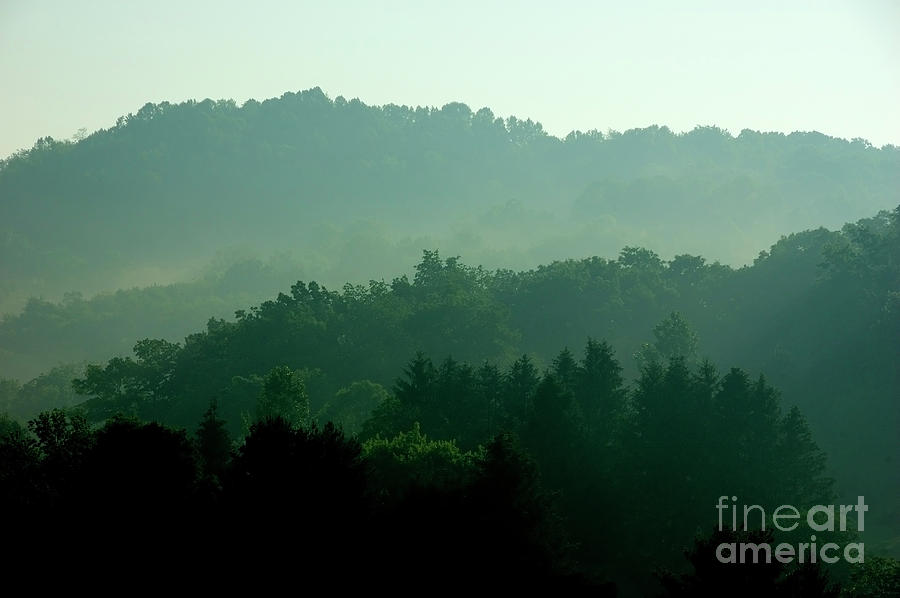 Sunrise Photograph - Mountains And Mist by Thomas R Fletcher