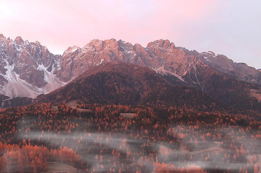 Autumn Photograph - Mountains At Dawn by Alex Lim