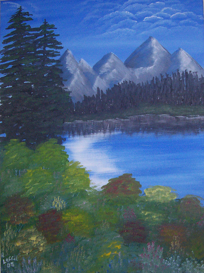 Landscape Painting - Mountains by Hollie Leffel