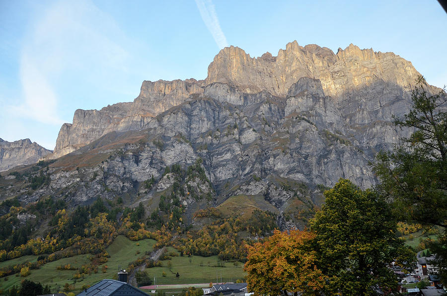 Mountains in Leukerbad, Switzerland by Erik Burg