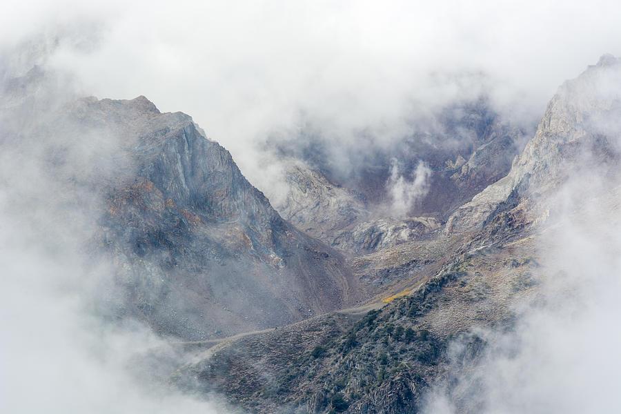 Eastern Sierras Photograph - Mountains In The Mist by Velda Ruddock