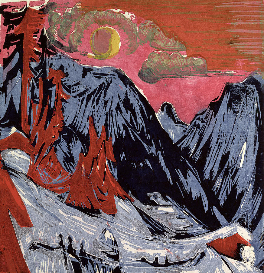 Mountains In Winter Painting - Mountains In Winter by Ernst Ludwig Kirchner