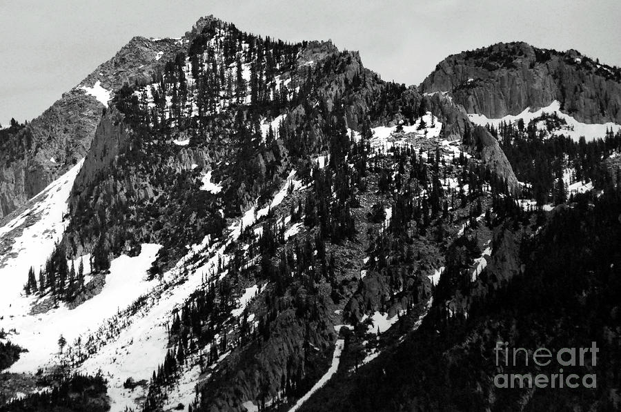 2011 Black And White Photograph - Mountains by Juls Adams
