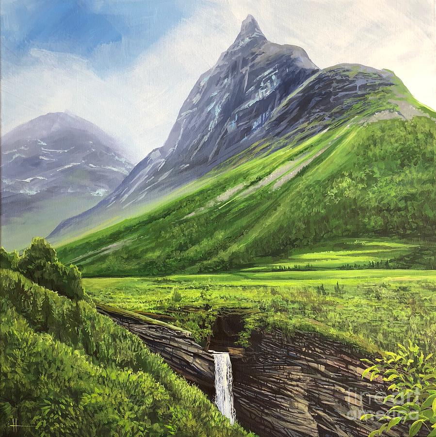Norway Painting - Mountains of Time by Hunter Jay