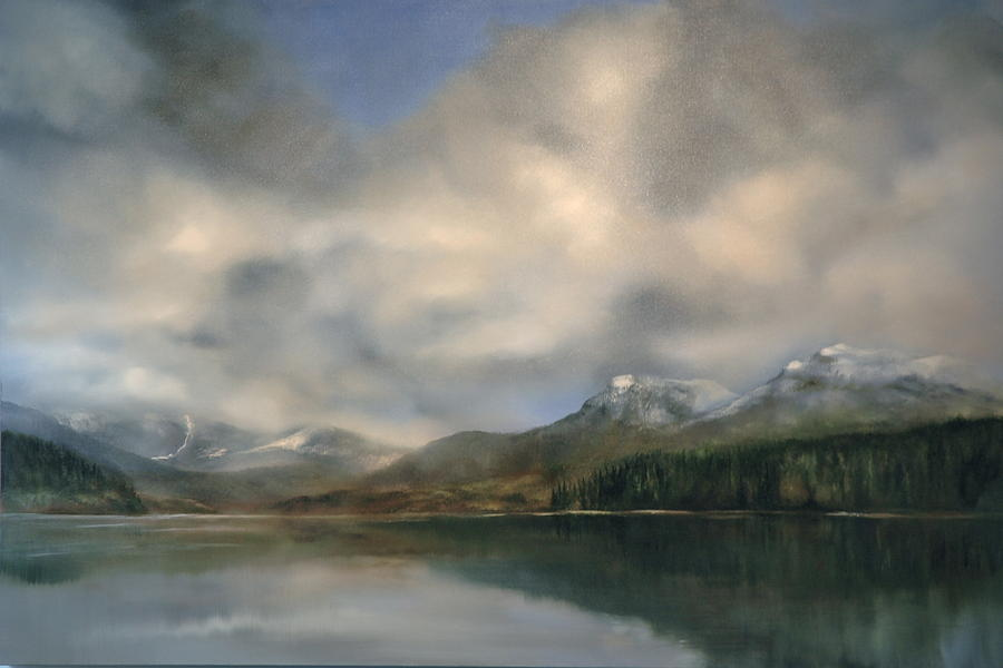 Mountain Painting - Mountains by Richard Cole