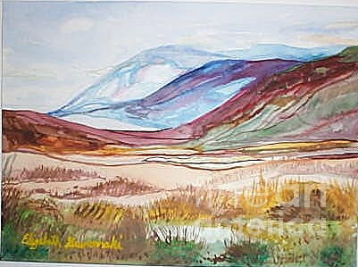 Mountains Painting - Mountains With Desert In The Southwest by Elizabeth A Gawronski