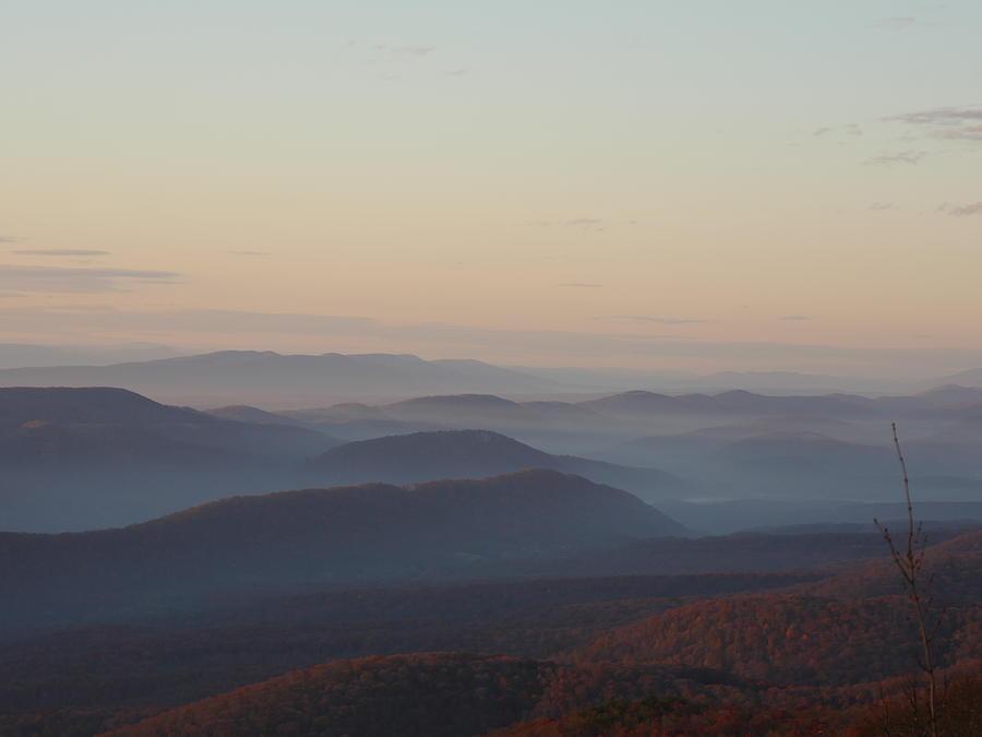 Landscape Photograph - Mountaintops at Autumn by Bill Helman