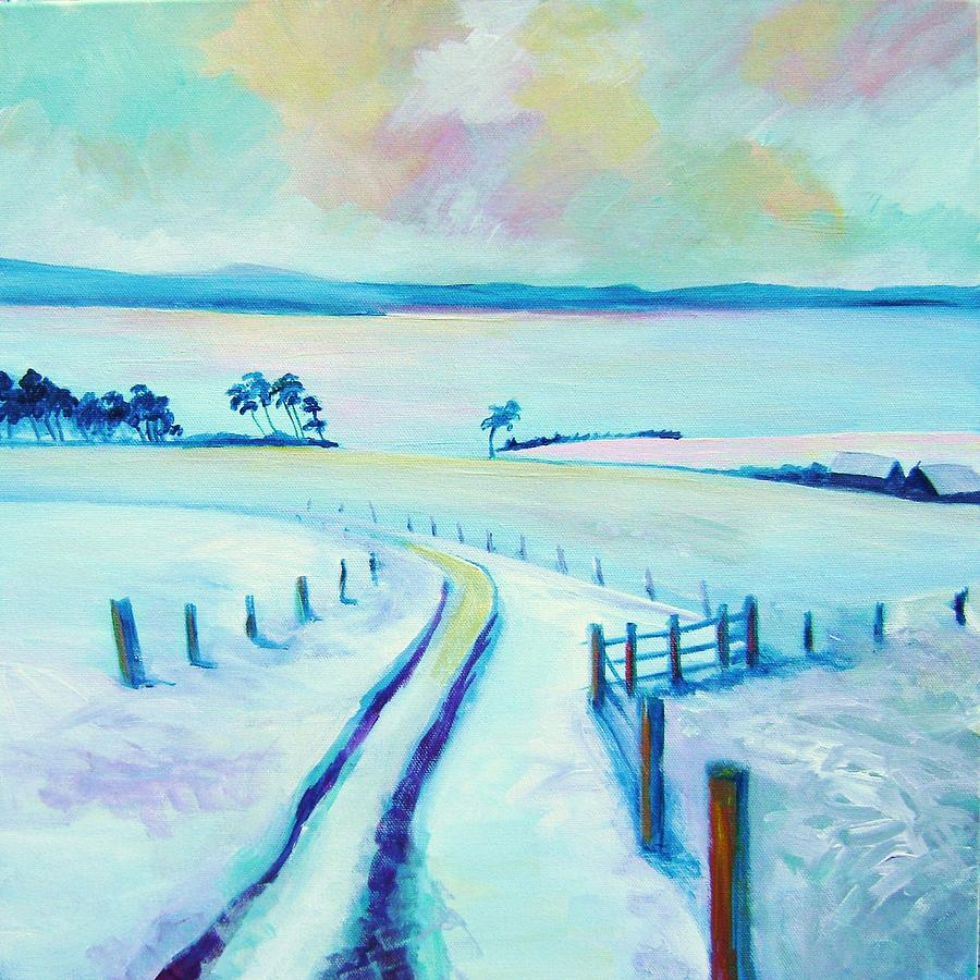 Scotland Painting - Mountpleasant Winter by Stephanie  Maclean