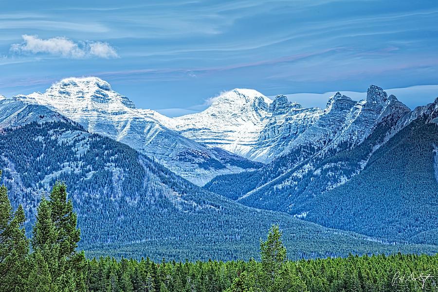 Alberta Photograph - Mounts Inglismaldie And Girouard by Phill Doherty