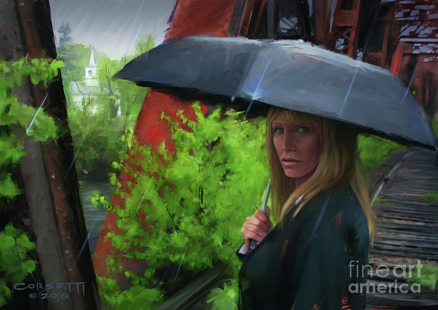 Mourner In the Rain by Rob Corsetti