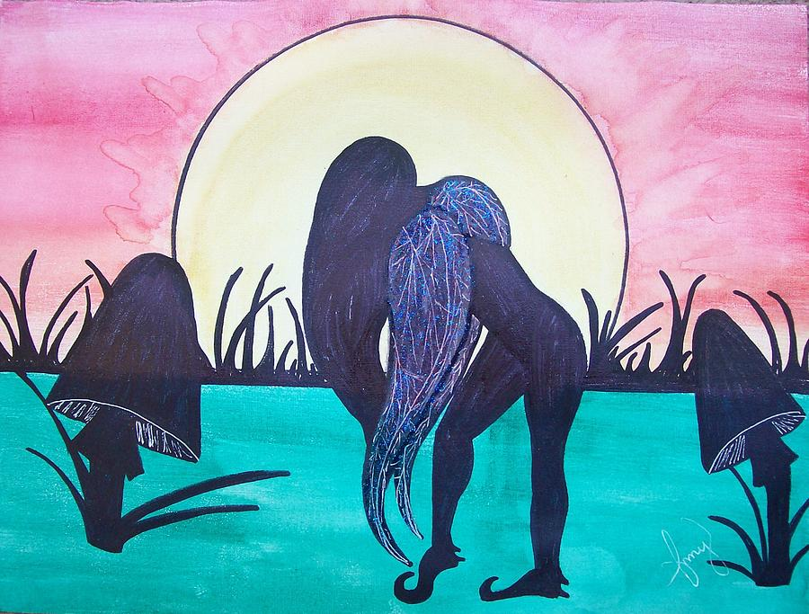 Fairy Painting - Mourning by Amy Lauren Gettys