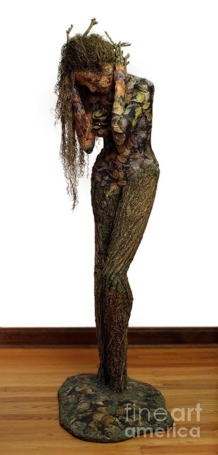 Sculpture Mixed Media - Mourning Moss A Sculpture By Adam Long by Adam Long