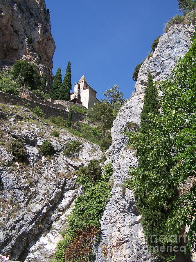 Church Photograph - Moustier St. Marie Church by Nadine Rippelmeyer