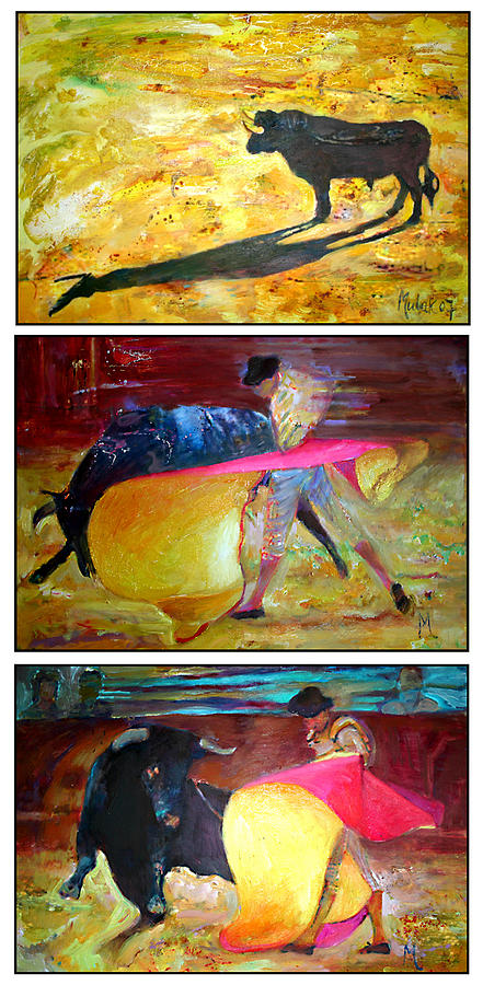 Move Corrida  Painting by Janusz Mulak