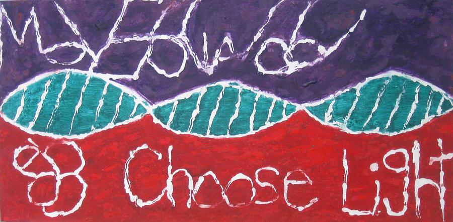Red Painting - Move Forward Choose Light by AJ Brown