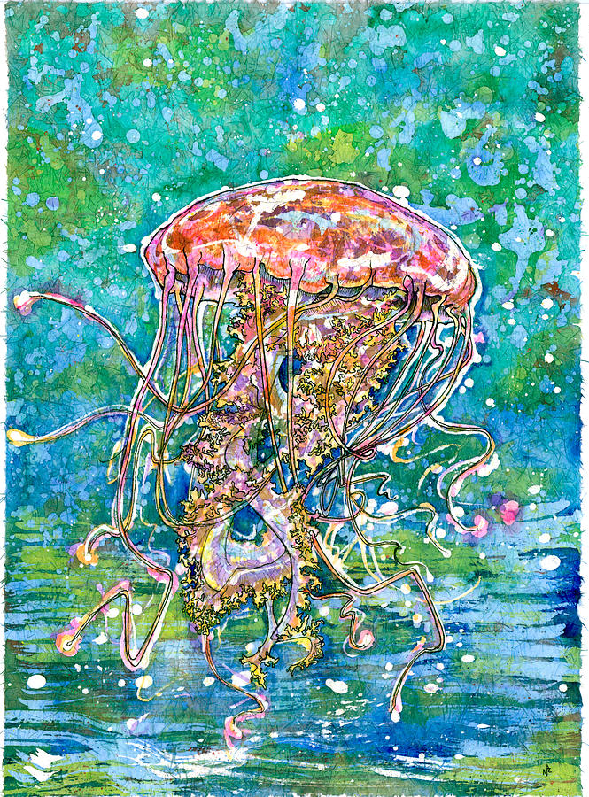 Jellyfish Painting - Move Like A Jellyfish by Nick Cantrell
