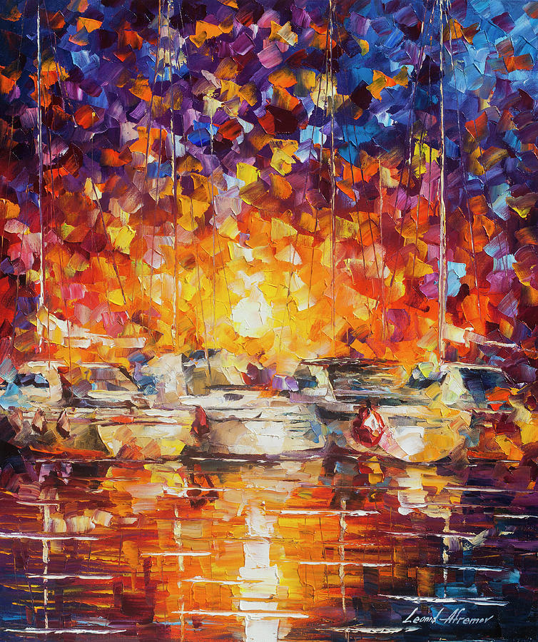 Painting Painting -  Movement Of The Sea by Leonid Afremov