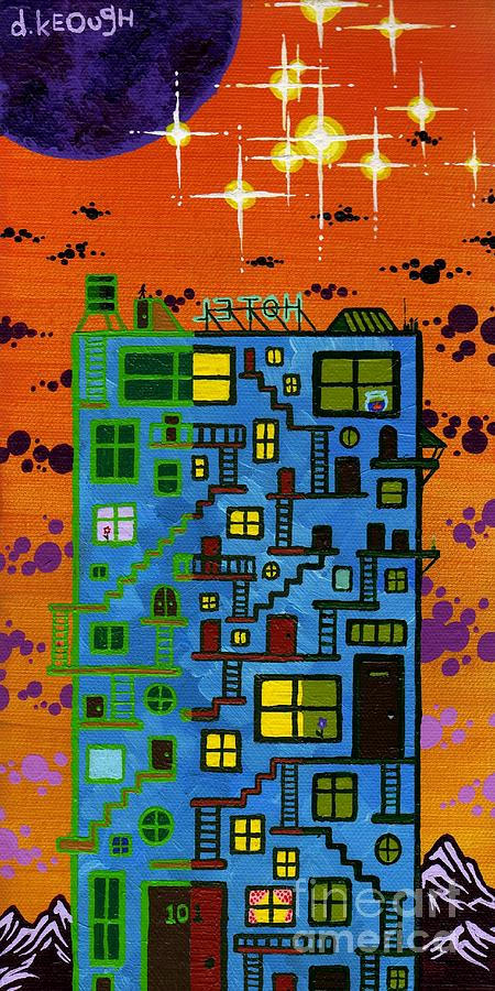 Building Painting - Moven On Up by Dan Keough