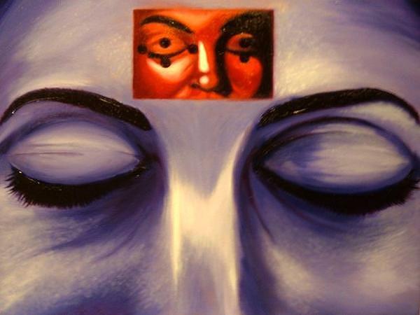 Close Painting - Movie Head by John  Stidham