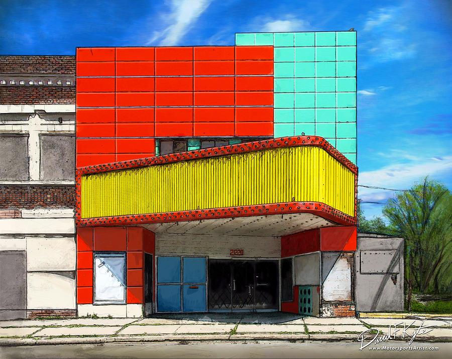 Theater Digital Art - Movie House by David Kyte