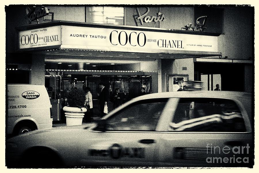 Noir Photograph - Movie Theatre Paris In New York City by Sabine Jacobs