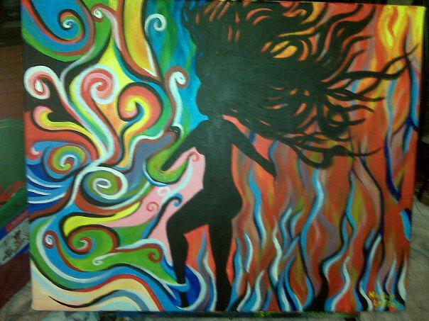 Woman Painting - Moving Forward by Hollie Leffel