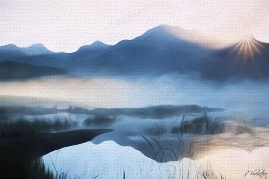 Moving Forward Painting - Moving Forward - Inspirational Art by Jordan Blackstone