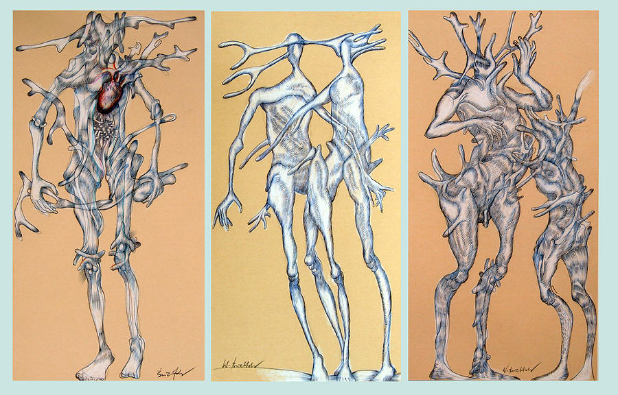 Figures Drawing - Moving Heart by Wolfgang - bookwood - Buchholz