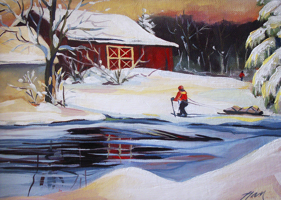 Winter Painting - Moving Into Winter Haven by Nancy Griswold