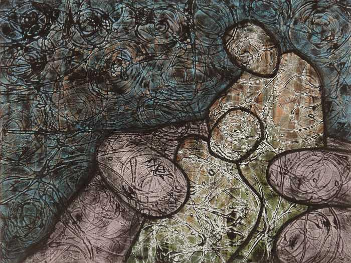 Abstract Painting - Moving Men by John Edward Marin