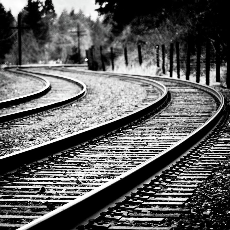 Tracks Photograph - Moving On by Brian Bonham