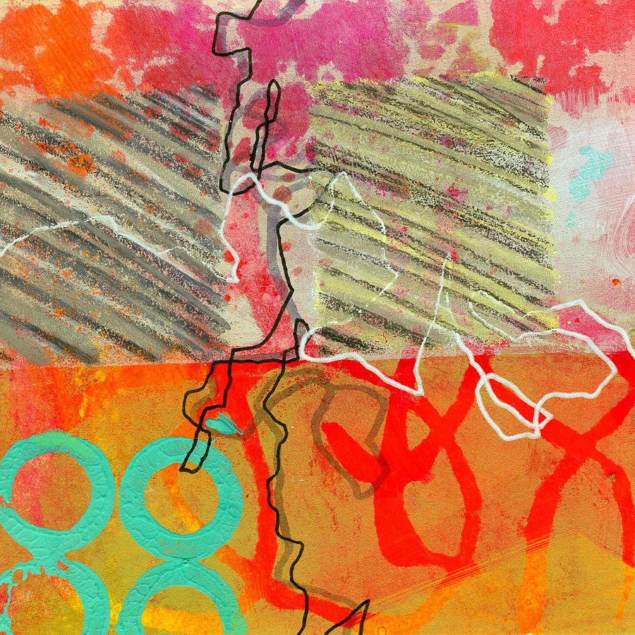 4x4 Painting - Moving Through 7 by Jane Davies