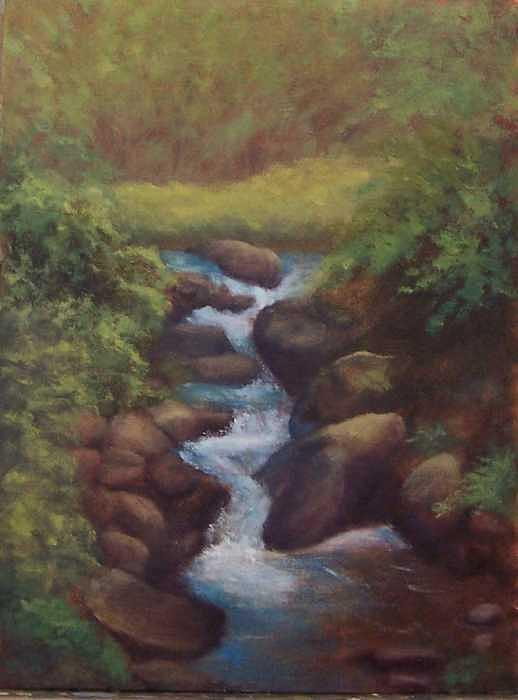 Moving Water Painting by Ruth Ann Sturgill